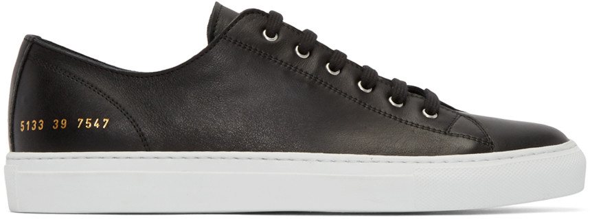 Common Projects Black New Court Low Sneakers