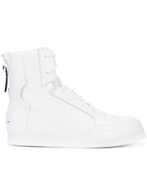 7085698e04f84 Yohji Yamamoto Adidas Superstar Neoprene Punk Sneakers In White ...