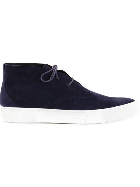 Pierre Hardy Lace-up Sneakers In Dark Blue
