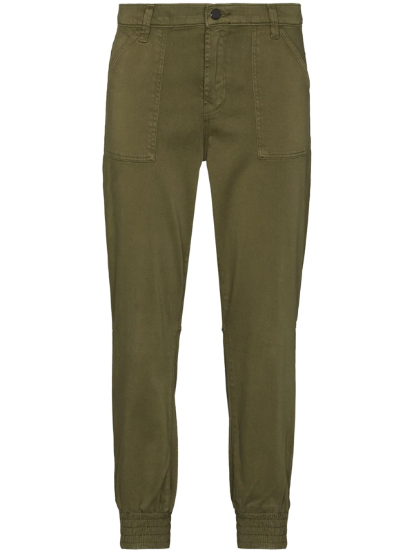 J Brand Arkin Army Green Cotton-blend Trousers