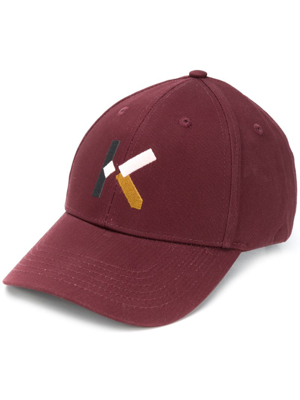 Kenzo Logo Embroidered Cap In Red