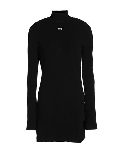 Off-white Technical Fabric Turtleneck Dress In Black