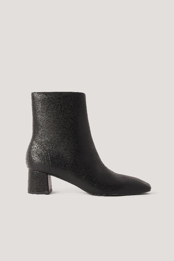 Na-kd Squared Slanted Toe Low Boots Black