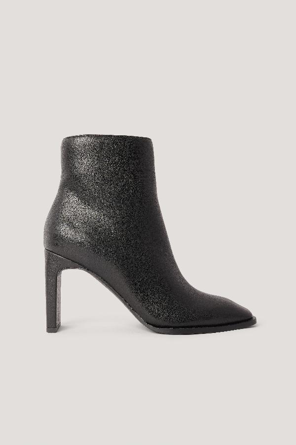Na-kd Squared Slanted Toe Boots Black