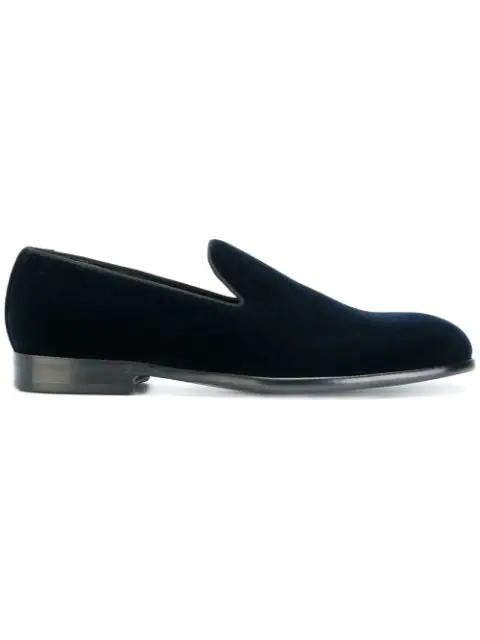 Dolce & Gabbana Block-heel Slippers In Blue