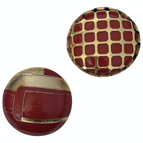 Pre-owned Lanvin Red Metal Pins & Brooches