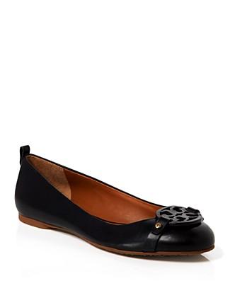Tory Burch Ballet Flats - Mini Miller In Black