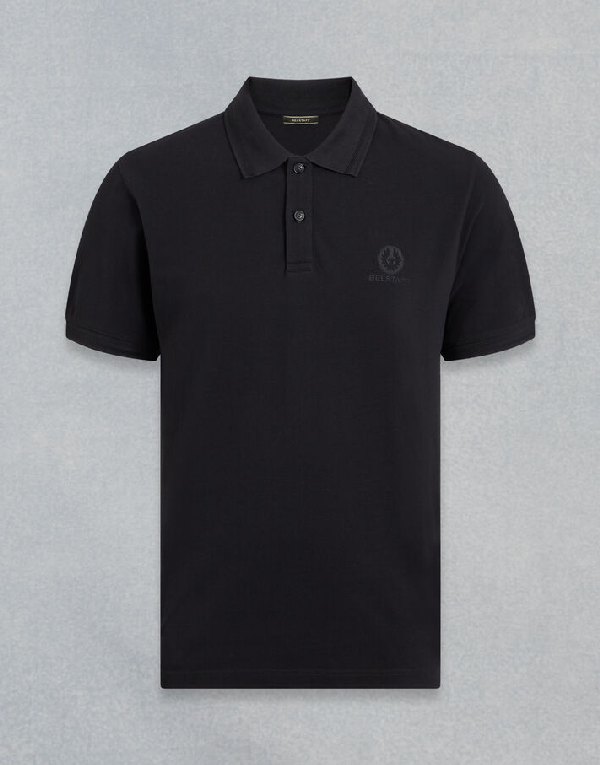 Belstaff Short Sleeved Polo Shirt In Black