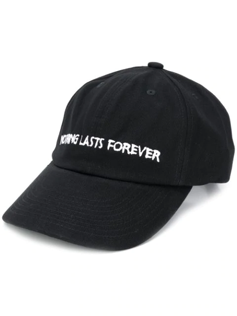Nasaseasons Nothing Lasts Forever Embroidery Baseball Cap In Black