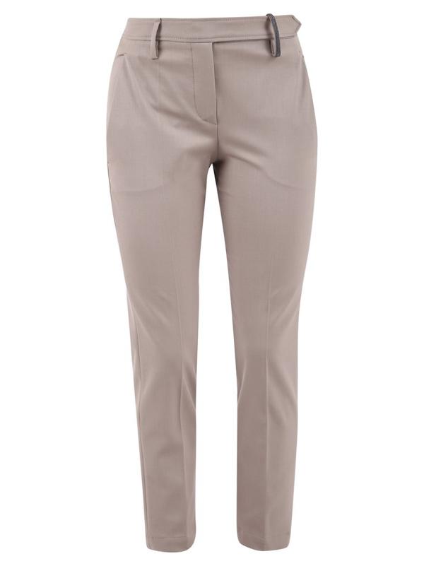 Brunello Cucinelli Cropped Trousers In Beige