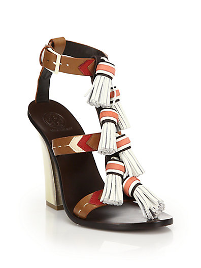 2f8ce7f283ddec Tory Burch Weaver Tasseled Leather Sandals In Multi