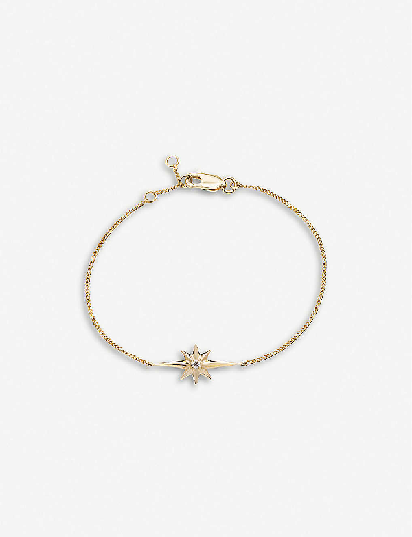 Rachel Jackson Rockstar 22ct Gold-plated Vermeil Sterling Silver And Diamond Bracelet In 22 Carat Gold Plated