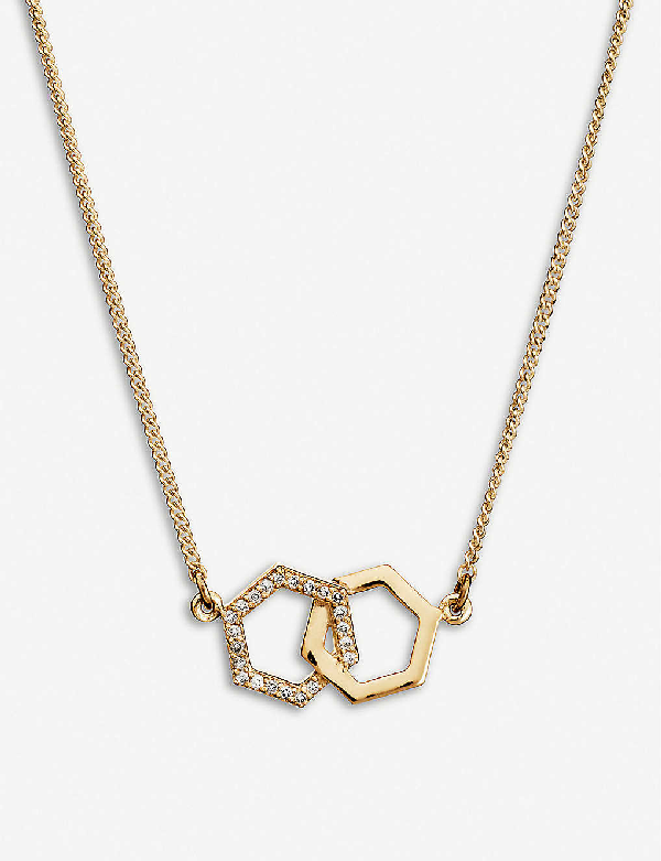 Rachel Jackson Infinity 22ct Gold-plated Vermeil Sterling Silver And Diamond Necklace