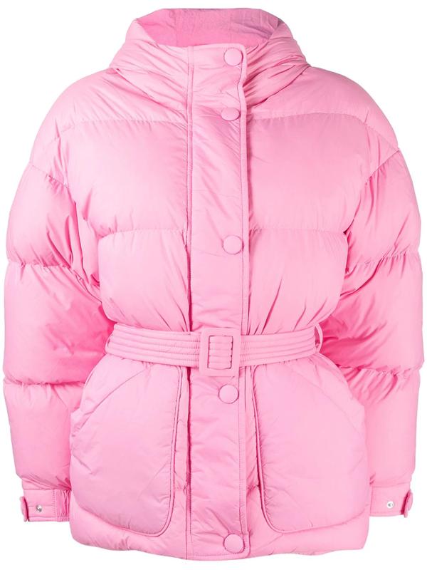 Ienki Ienki Michlin Hooded Nylon Puffer Jacket In Pink