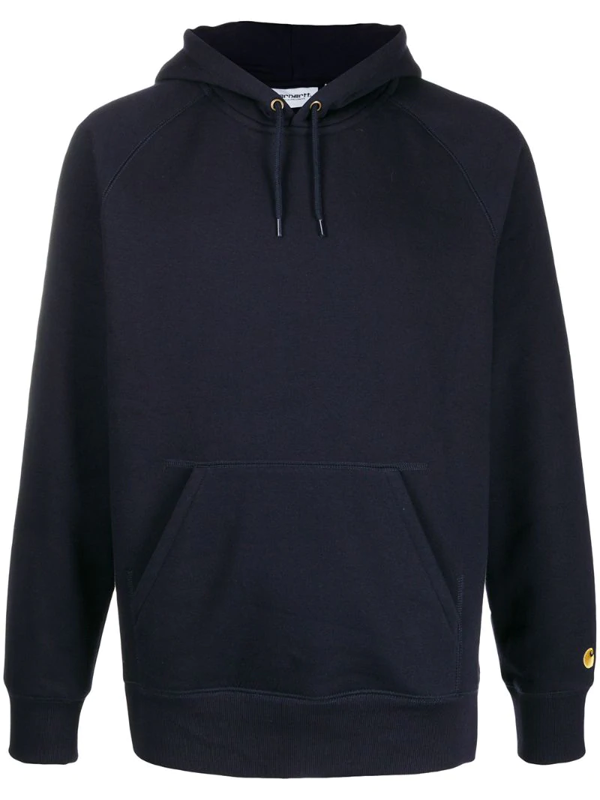 Carhartt Wip Chase Hooded Sweatshirt - Dark Navy Size: X Small, Colour In Blue