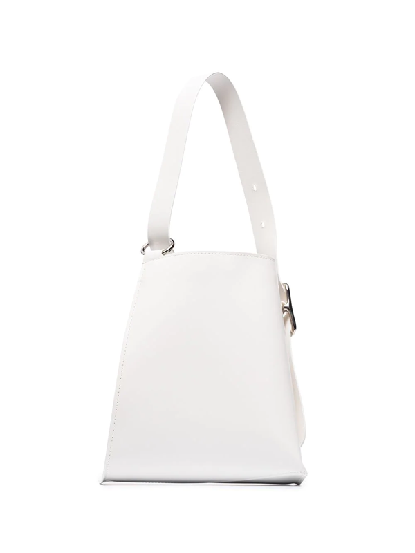 Venczel White Taeo Leather Tote Bag