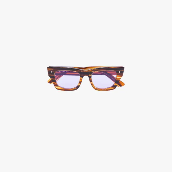 Natasha Zinko Tortoiseshell-effect Square-frame Sunglasses In Brown
