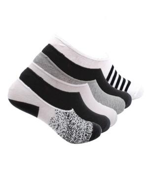 K-swiss Women's Foot Liner No Show Cotton Socks, Print, 6 Pack In Black/white