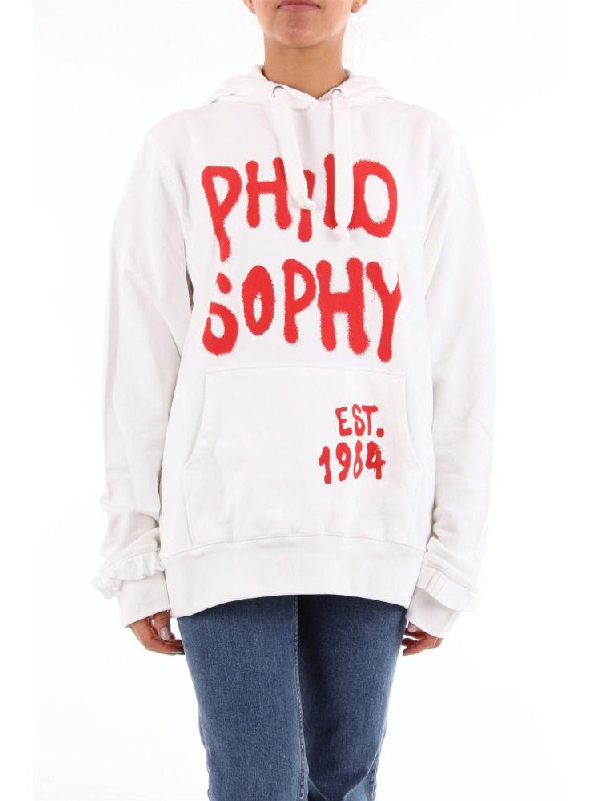 Philosophy Women's White Cotton Sweatshirt