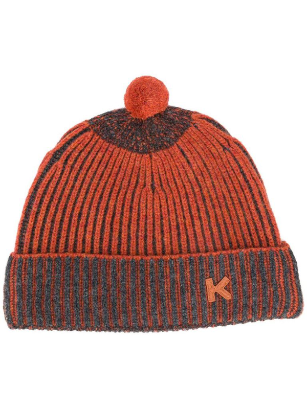 Kenzo Ribbed Bobble Hat In Red