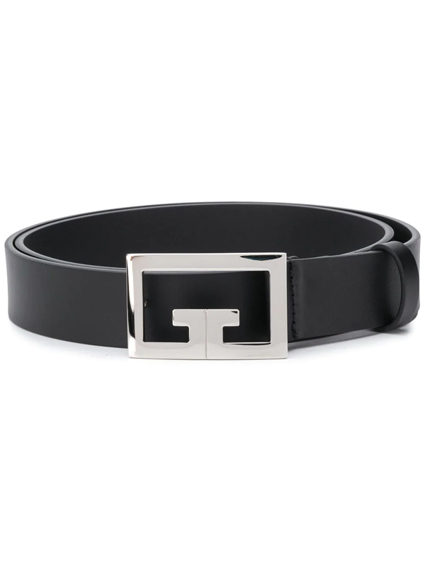Givenchy Logo-buckle Leather Belt In Black