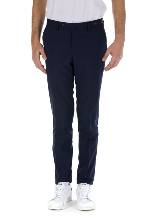 Pt01 Men's Blue Wool Pants