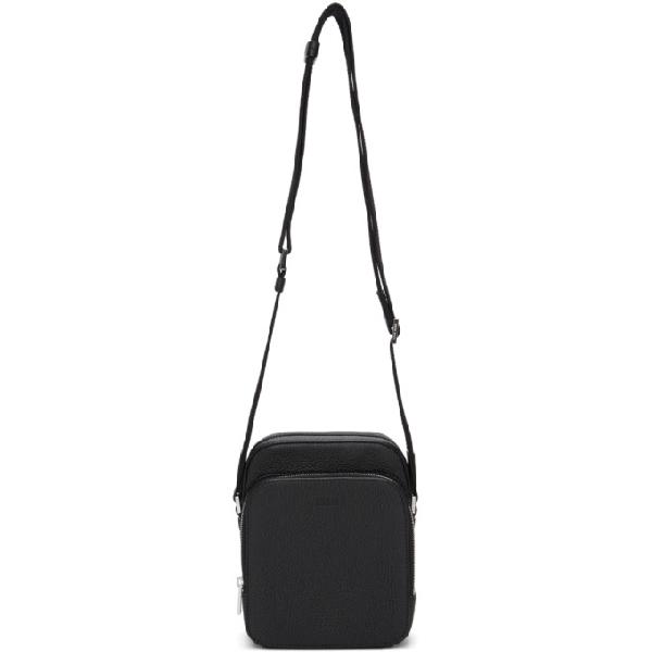 Hugo Boss Boss Black Small Crosstown Messenger Bag In 001 Black