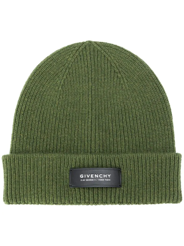 Givenchy Logo-patch Beanie In Green