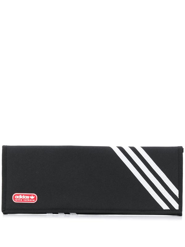 Adidas X Lotta Volkova X Lotta Volkova 3-stripes Flat Clutch In Black