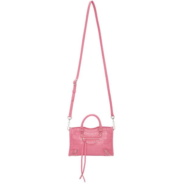 Balenciaga Classic City Mini Croc-effect Leather Tote In 5842 Pink