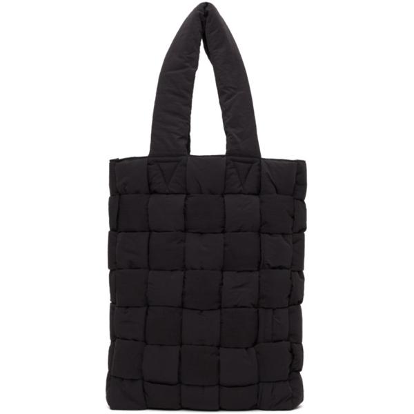 Bottega Veneta Padded Quilted Nylon Tote Bag In 8803 Black