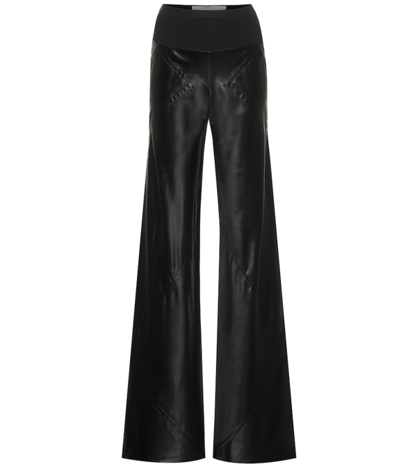 Rick Owens Bias High-rise Flared Pants In Black