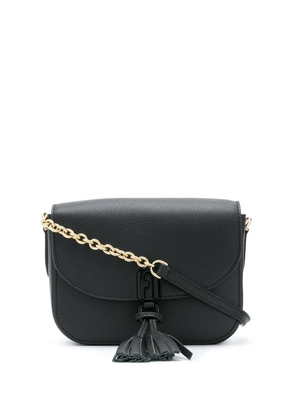 Furla 1927 Mini Tassel Crossbody Bag In Black
