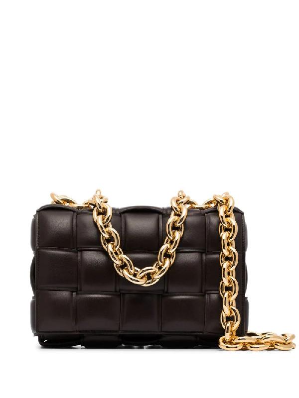 Bottega Veneta Brown The Chain Cassette Leather Shoulder Bag