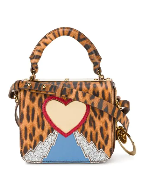 Sophie Hulme Leopard Print Multi Finsbury Small Top Plate Crossbody Bag In Multicolour