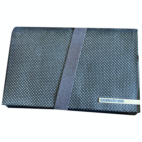 Pre-owned Cerruti 1881 Black Leather Wallet
