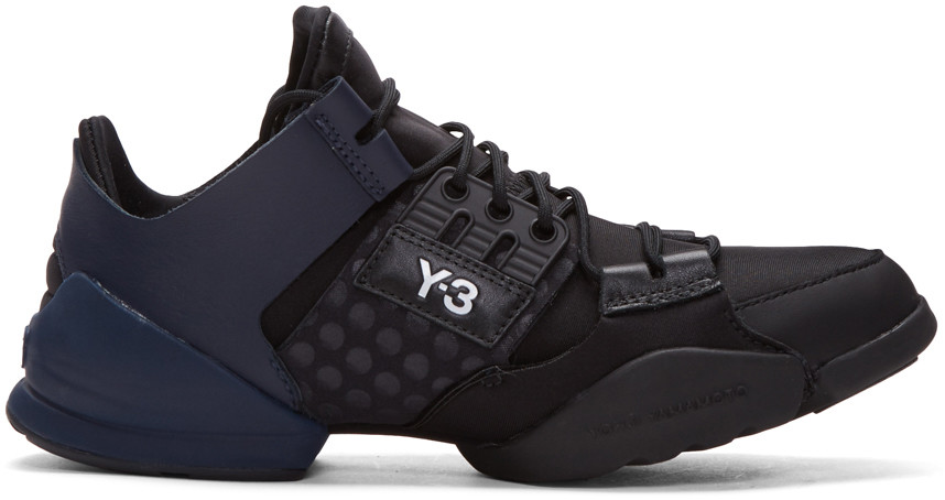 43f022fed Y-3 Kanja Leather And Fabric Sneakers
