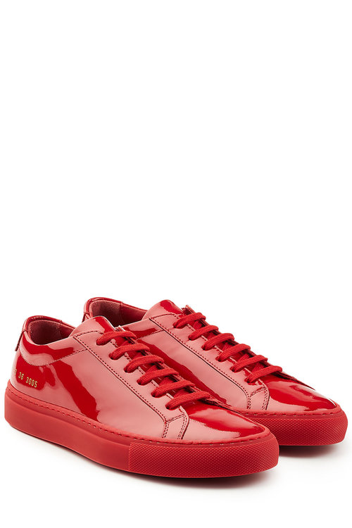 5030115eb2cf Common Projects Patent Leather Sneakers In Red