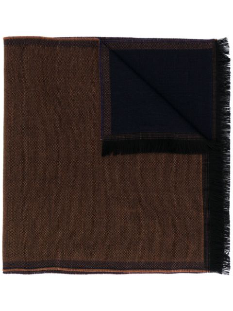 Lady Anne Reversible Fringed Scarf In Brown