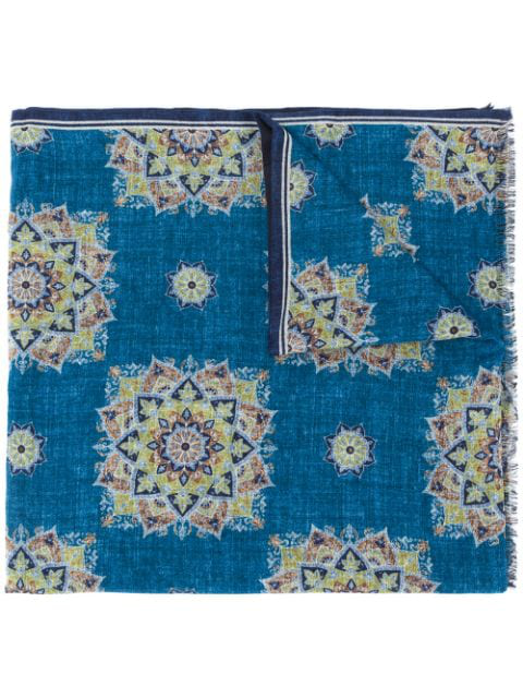 Lady Anne Geometric-print Scarf In Blue