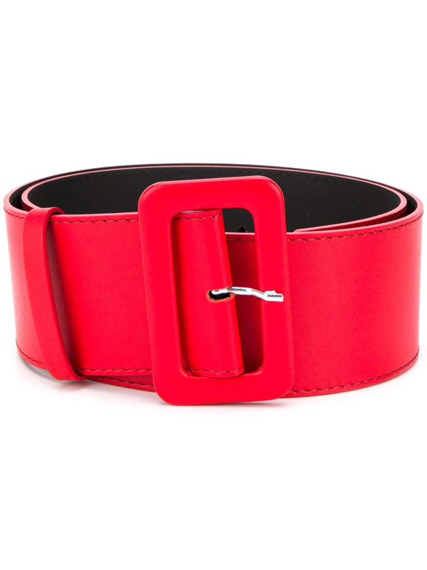 P.a.r.o.s.h. Rectangular-buckle Belt In Red