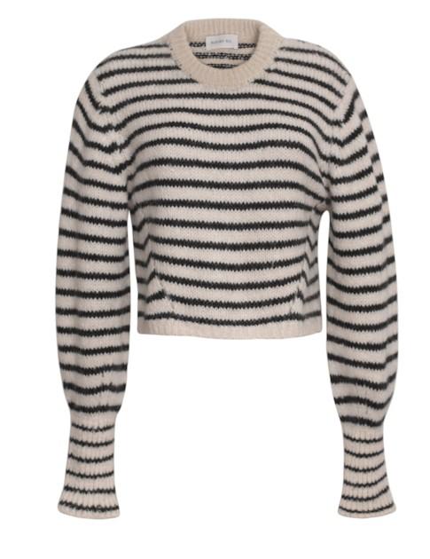 Eleven Six Women's Kara Stripe Knit Sweater In Ivory + Black Stripe