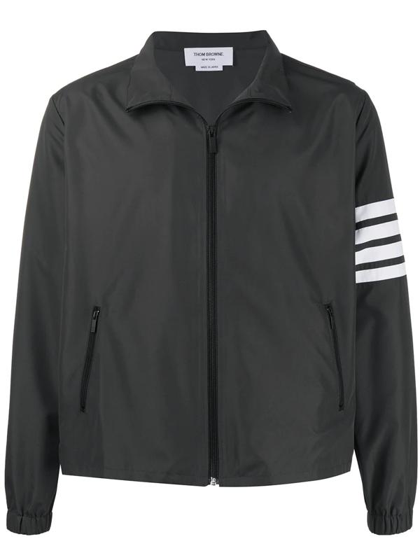 Thom Browne 4-bar Flyweight Tech Jacket In Grey