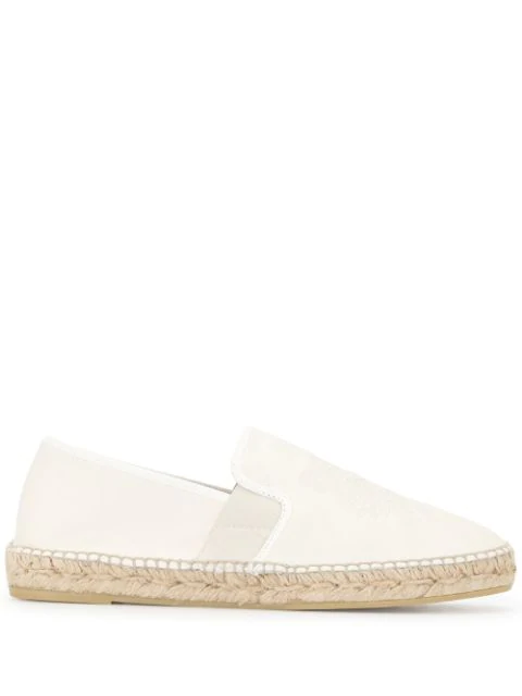 Kenzo Tiger Logo-embossed Espadrilles In White