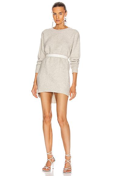 Isabel Marant Étoile Danaelle Dress In Light Grey