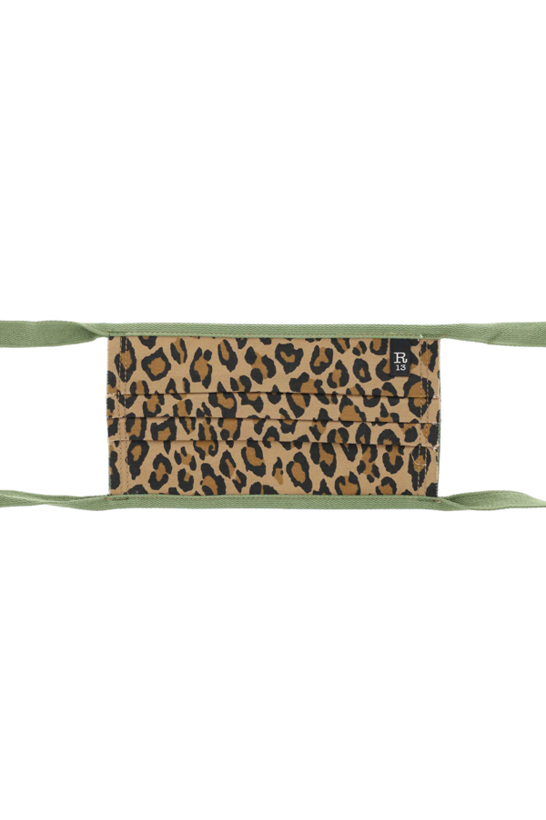 R13 Leopard Print Mask In Brown,black,green