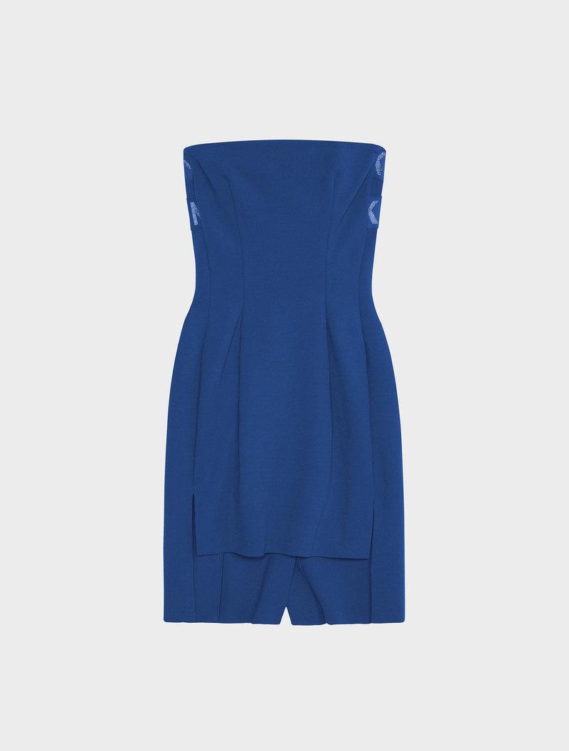 best website 9f17b 0d32e Dkny Runway Tech Milano Tube Dress With Step Hem in Blue