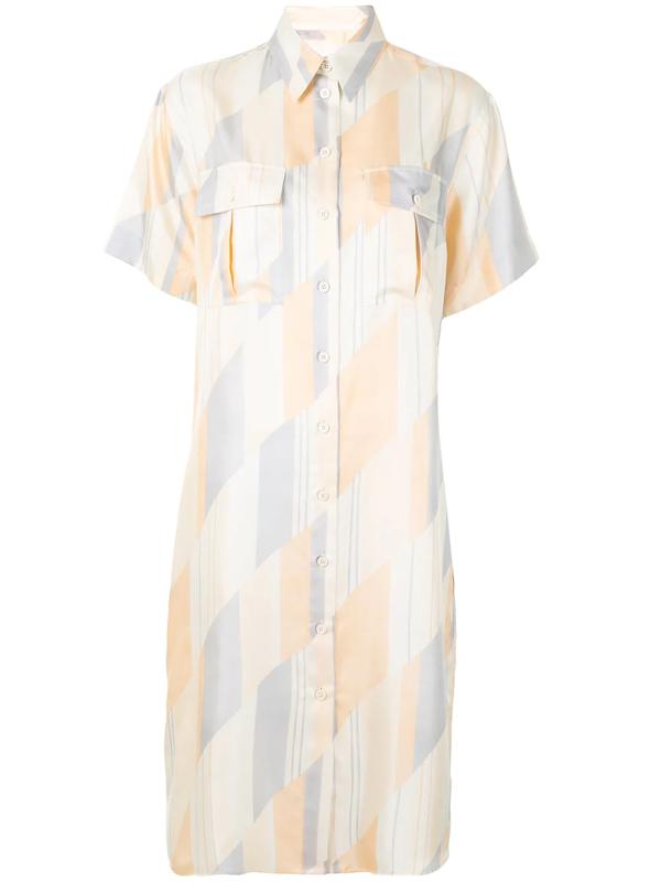 Jil Sander Geometric Print Shirt Dress In Multicolour