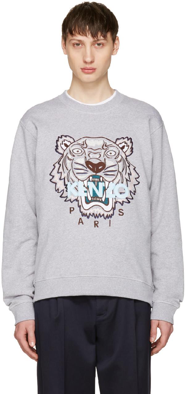 982579fe Grey Limited Edition Tiger Sweatshirt in 95 Dove Grey
