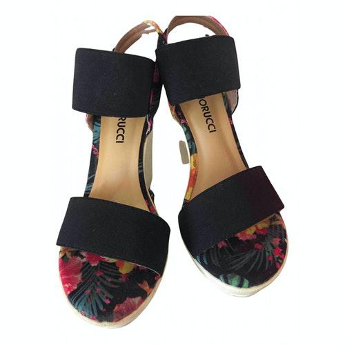 Pre-owned Fiorucci Black Cloth Heels